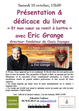 Eric Grange dédicace Libraire Cadence Lyon